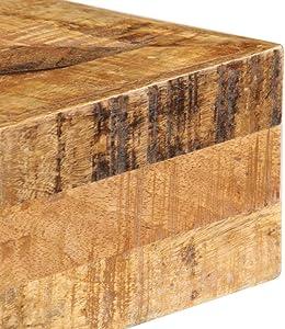 tidyard Acacia-Tavolo Consolle, in Legno Massello di Mango e Acciaio, 80 x 40 x 75 cm