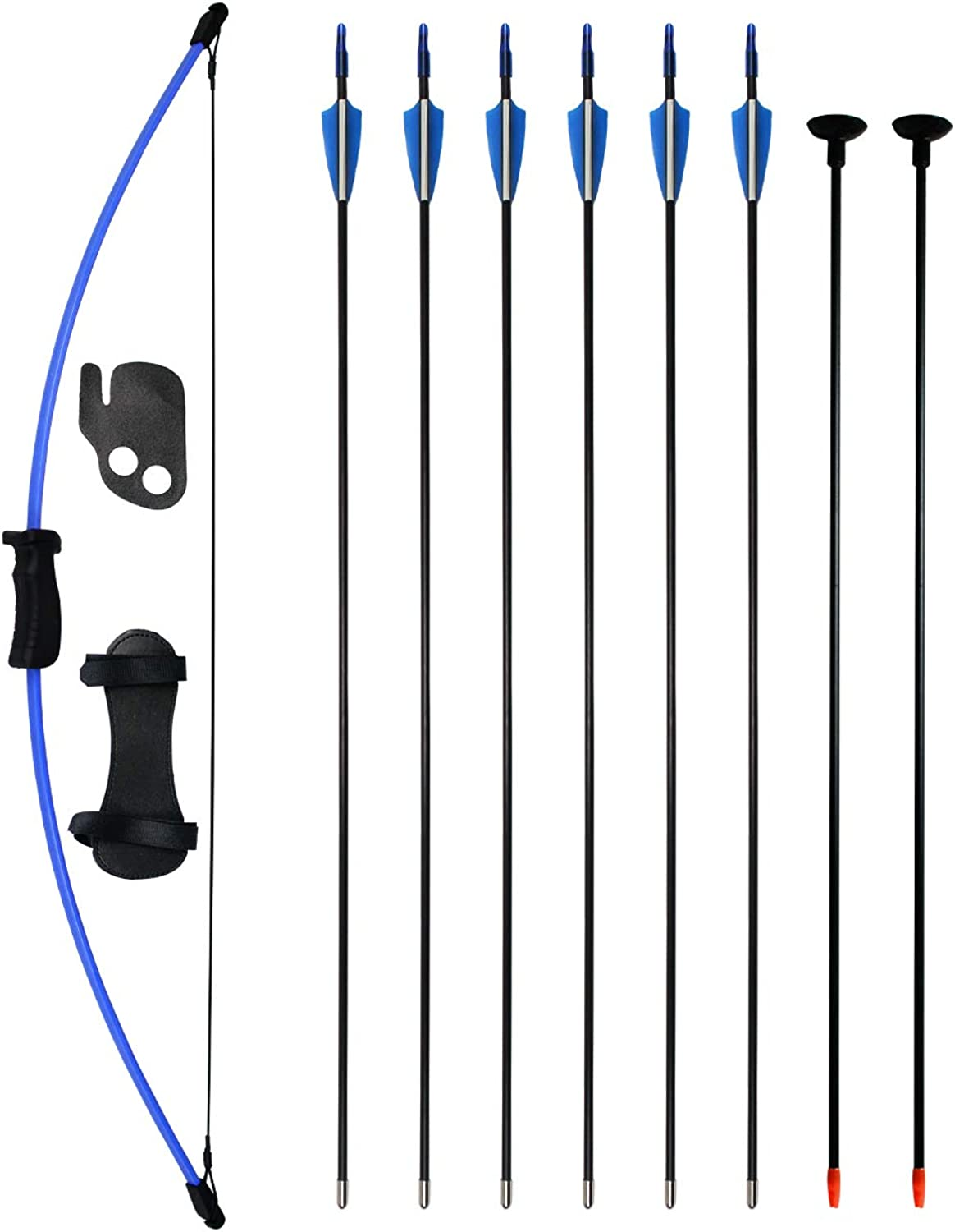 SinoArt Bow and Arrow Set for Teens Outdoor Sports Game Hunting Gift Archery Bow Set with 8 Arrows 16 Lb