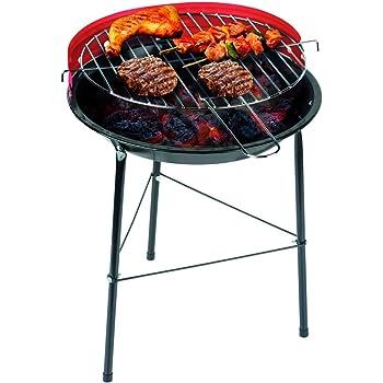 PrimeMatik Barbecue à charbon de bois de 33 cm avec pattes