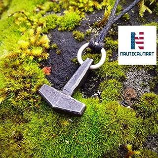 Hand Forged Steel Thors Hammer, Mjolnir (Mjölnir). Viking Jewelry.