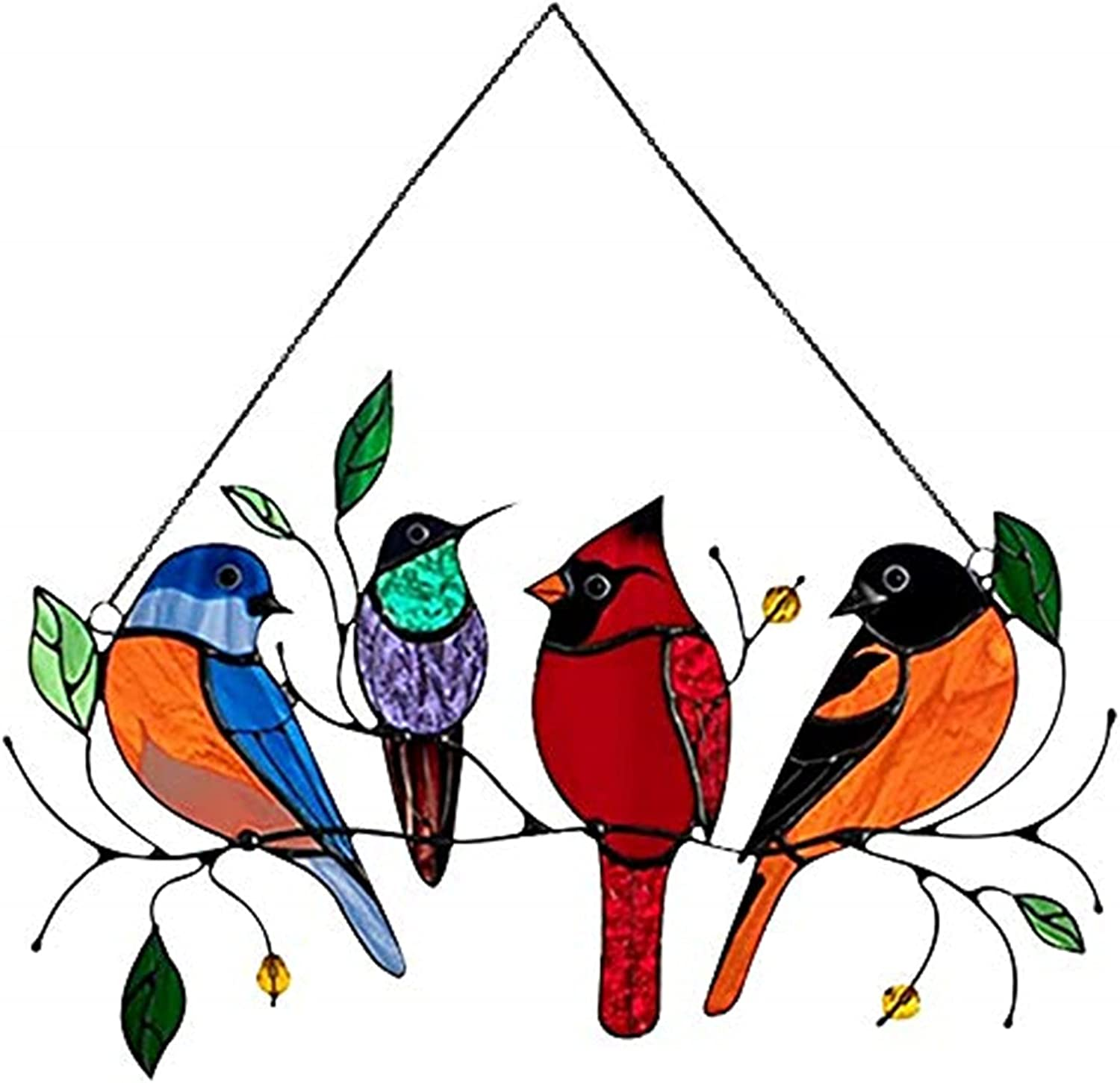 Multicolor Birds on New York Mall A Wire Max 50% OFF Suncatcher Window Stained High Glass