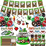 Pixel Style Gamer Birthday Party Supplies for...