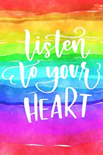 Listen to Your Heart: Positive Self Affirmation Notebook Journal for Women and Men Versatile Own Care Zen Book Lined Compo...
