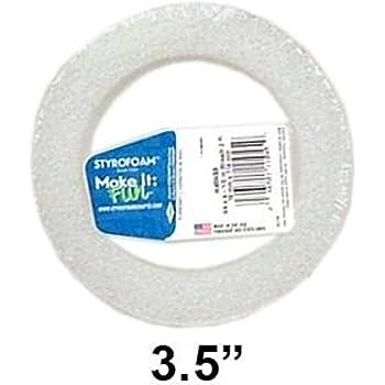 "Floracraft Styrofoam Wreath Package 3.5"" White 2pc"