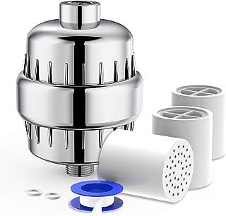 20-laags douchefilter, met extra vervangingsfilter cartridge en teflontape, verwijderen chloor, zware metalen, water verza...