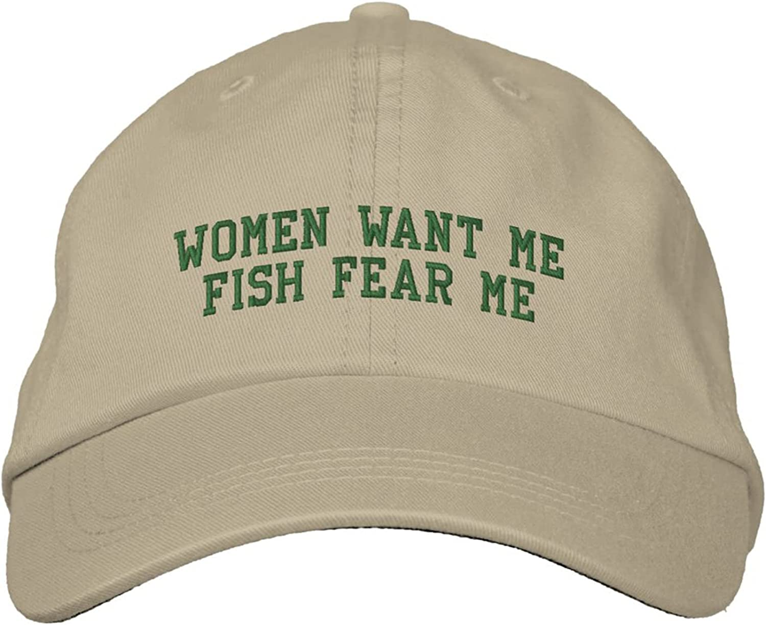 Embroidered Baseball Cap Women Want Me Baseball Hat Embroidered Cap Fish Fear Me Embroidered Adjustable Dad Hat Sun Hats