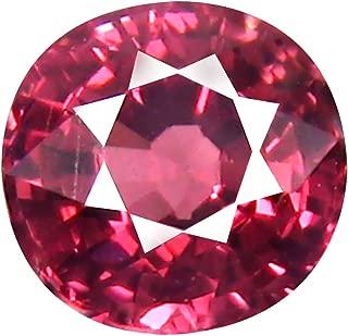 1.02 ct AAA+ Grade Round Shape (6 x 6 mm) Unheated Pink Malaya Garnet Natural Loose Gemstone