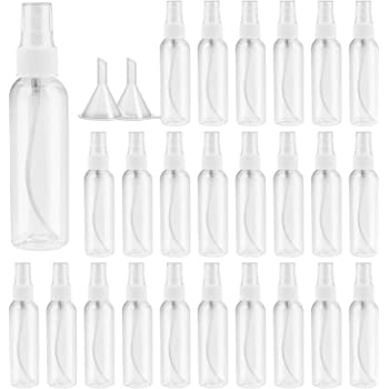 Spray Bottle,Fine Mist Mini Clear 60ml/2oz Spray Bottles,Small Reusable Empty Plastic Bottles with Atomizer Pumps(23pack)