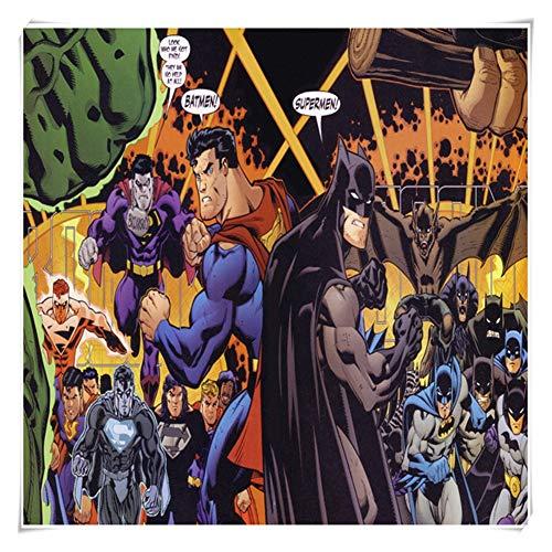 GXWBH-Puzzle Rompecabezas for la Familia del Juguete del Juego, clásico Animado de la película Superman vs Batman Rompecabezas Fit 300 ~ 1000 Piezas en Caja Juguetes Arte del Juego P05/25