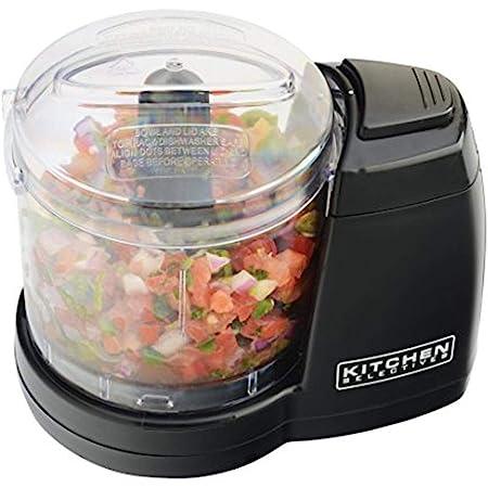 Kitchen Selectives MC-6BL Kitchen Selectives Mini Chopper, Black, 2 cups