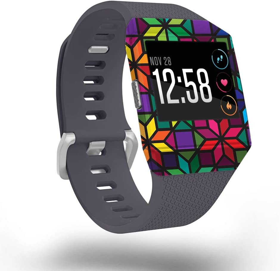 MightySkins Skin Compatible New sales Max 50% OFF with Fitbit Wi - Glass Stained Ionic