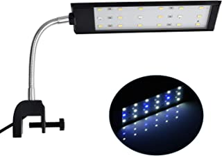 NICREW Fish Tank Clip on Light, Clamp Aquarium Light with White and Blue LEDs