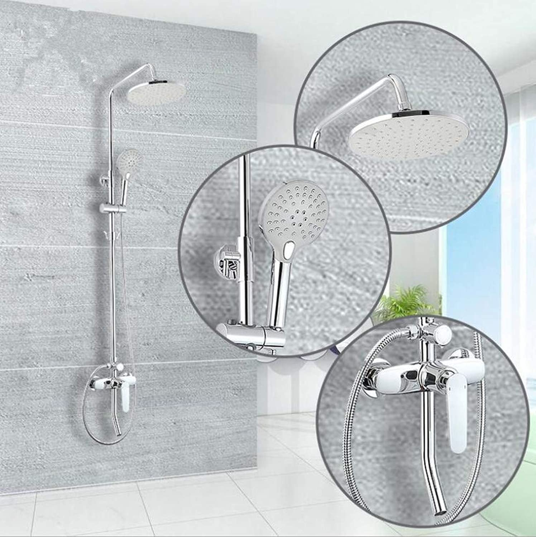Bathroom Copper Shower Set Bathroom Shower Mixer Faucet Energy-saving Pressurized Shower