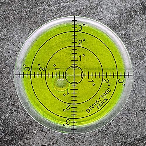 Wasserwaage XL Dosenlibelle Ø = 66mm mit Luftblase für präzises Nivellieren