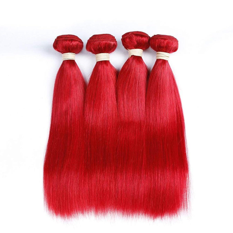 クリスチャンお願いします超えてHOHYLLYA 赤毛ブラジルストレートヘア100%未処理のヘアバンドル1バンドル人間の髪の毛の織り方(10