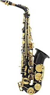 Gecheer Muslady Brass Engraved EB E-Flat Alto Saxophone Sax Abalone Shell Buttons Wind Instrument with Case Gloves Cleanin...