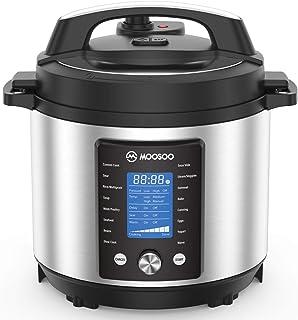 Sponsored Ad - MOOSOO Pressure Pot Max, 15-in-1 Instant Electric Pressure Cooker with Max 15PSI Pressure, 6 Quart, Perfect...