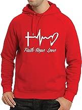 lepni.me Sudadera con Capucha Fe - Esperanza - Amor - 1 Corintios 13:13, Citas cristianas y proverbios, Refranes religiosos