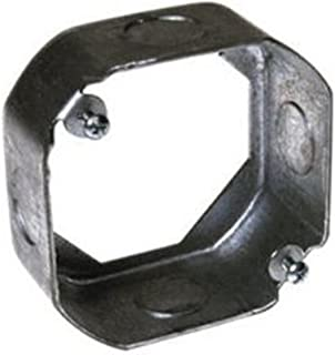 Steel City 4-OD-EXT-1/2 4-Inch Diameter 2-1/8-Inch Deep 21.5-Cubic Inch Pre-Galvanized Steel Octagon Box Extension Ring