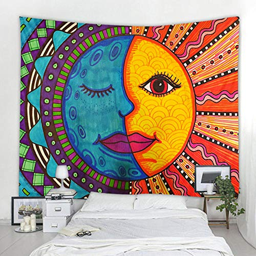 UUJJF Multicolored Hippie Tapestry Psychedelic Background Cloth Background Wall Decorati on Cloth Tapestry Home Art Deco Mural Tapes 150x230cm