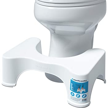 Squatty Potty The Original Bathroom Toilet Stool, 7 Inch height, White