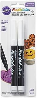 Wilton 609-1192 Marcadores de tinta negra comestible para alimentos (Paquete de 2)