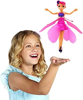 Flying Fairy Doll - Infrared Induction and Remote Control Toys - Helicopter Child Toy Teen Toy Ballet Girl Flying Princess Doll Magic and Best Gift for 6 Year Old Girl Kids Toy Birthday Present