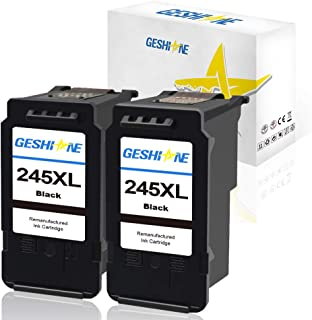 GESHINE 245 XL Remanufactured Ink Cartridge Replacement for Canon PG-245XL High Yield Used for MX492 TS3120 MG2522 MX490 MG2920 MG2922 MG2520 MG3020 TS302 (2 Black)