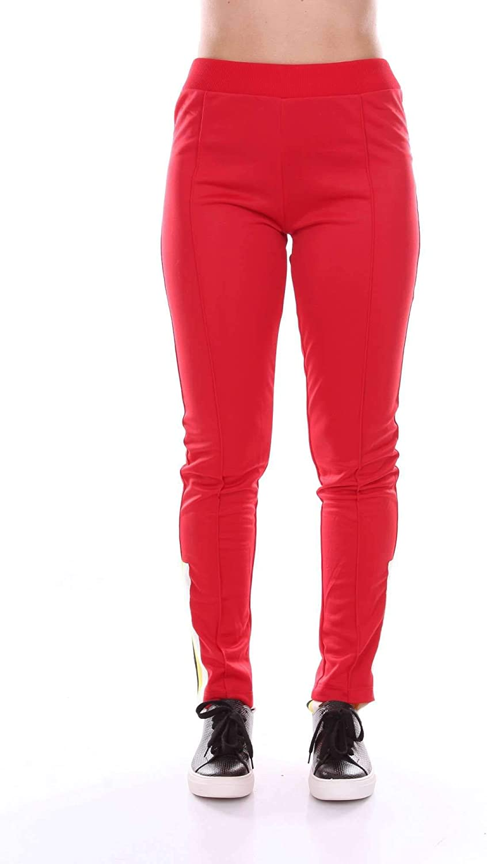 Akep Women's KE726RED Red Cotton Pants