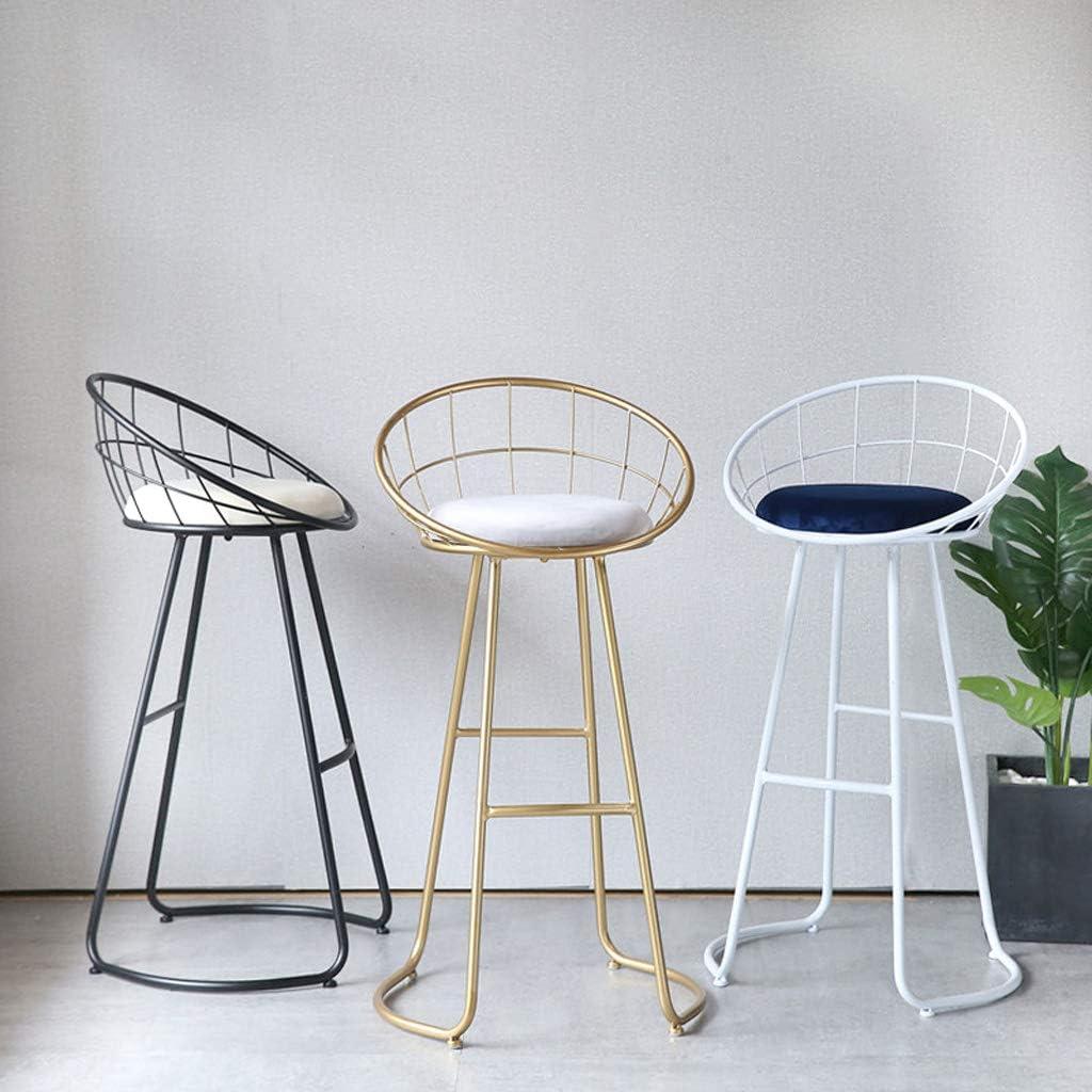 ZHNA Tabouret en Bois Mode siège Changement Chaussures Petite Chaise Salon Maquillage Tabouret Table Meubles (Color : Gold) White