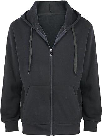 9053de0c24 Urimoser Hoodies for Men Full Zip Lightweight Cotton Fleece Plain Zipper  Sweatshirts Big & Tall