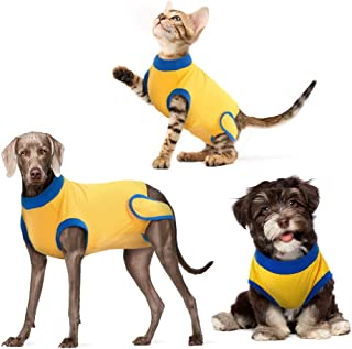 DENTRUN Dog Surgery Recovery Suit, Recovery Shirt for Male Female Dog, Dog Weaning & Post-Operative Vest, Abdominal Wounds...