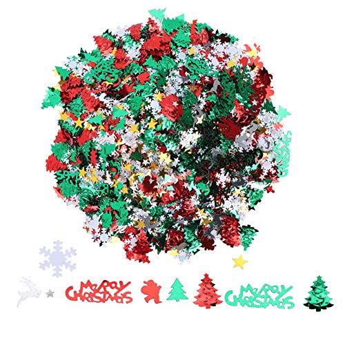 Brillo de confeti navideño,lentejuelas de confeti de PVC,lentejuelas para decoración de fiestas y festivales,para bolsas de golosinas,suelo,camas,escritorio,cajas de regalo