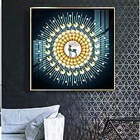 MJZJP 絵画絵画壁画 アートパネル アートフレーム 絵画 壁掛け 50〜70センチメートル (Color : グレー, Size : 50*50cm)