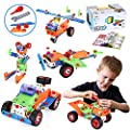 LUKAT STEM Toys Building Blocks Kit, 165pcs Educational Construction Engineering Learning Toys for Kids, Building Toys Set for Boys Age 4 5 6 7 8 9 Year Old Best Girls Boys Gift for Birthday Christmas