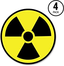 Sutter Signs Nuclear Radiation Warning Symbol Stickers - Individually Die-Cut - 3-inch Diameter (Pack of 4 Decals)