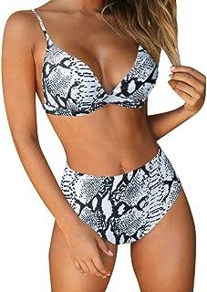 e578ceb7e5 RUUHEE Women Stripe Printing Padded Push up 2 Piece Bikini Sets Swimsuits