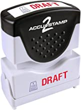 ACCU-STAMP2 Message Stamp with Shutter, 2-Color, DRAFT, 1-5/8