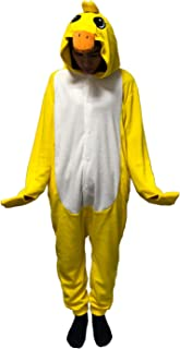 Unisex-Adult Costume Animal Cartoon Onesie Pajamas Loungewear Yellow Duck