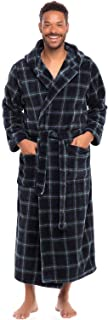 Men's Plush Fleece Robe with Hood, Warm Big and Tall...