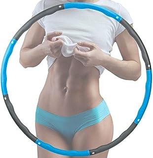 Hullahub Slimming Hula Hoops Fitness Fitness Hula-Hoops Sportutrustning Hem 8 Segment Avtagbar (1,2 kg) (Blå & Grå)