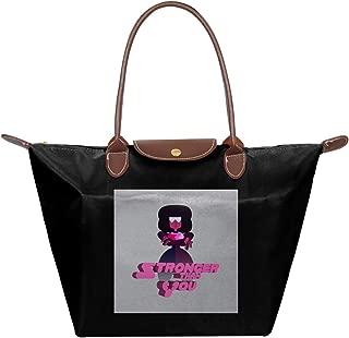 Steven Universe Stronger Than You Waterproof Leather Folded Messenger Nylon Bag Travel Tote Hopping Folding School Handbags