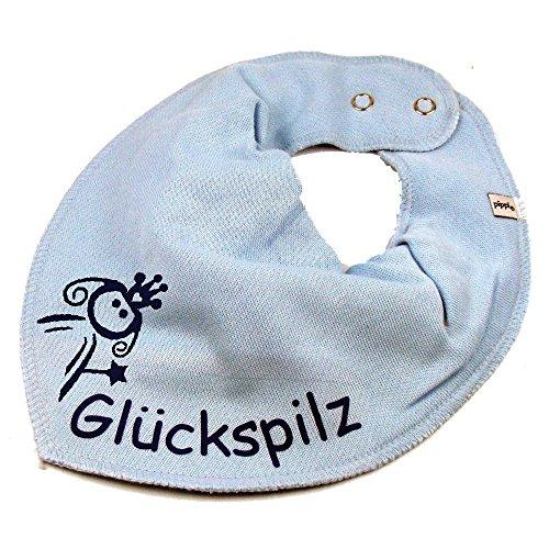 Elefantasie Elefantasie HALSTUCH PRINZESSIN mit Namen oder Text personalisiert hellblau für Baby oder Kind