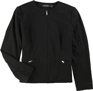 Ralph Lauren Womens Collarless Jacket