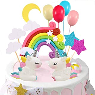 Unicorn Cake Topper Cloud Rainbow Star Balloon Cake Topper