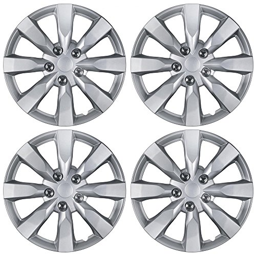 "BDK Hubcaps Wheel Covers for Toyota Corolla 16"" – Four (4) Pieces Corrosion-Free & Sturdy – Full Heat & Impact Resistant Grade – Replacement, 4 Pack"