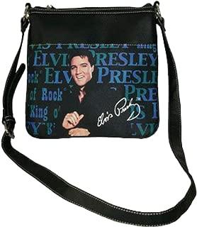 NEW Elvis Presley Motorcycle Messenger Bag Synthetic Leather Crossbody w// Zipper
