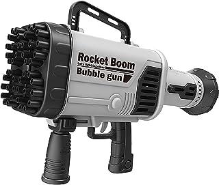 44-Hole Rocket Launcher Shape Bubble Maker, Bubble Machine for TIK Tok,Bubble Gun Blower for Kids,Children's Gun for Summe...