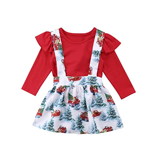 6d434fcd9eb 2PCS Toddler Baby Girls Summer Outfits Set Short Sleeve Tops+Suspender  Skirt Overall Clothes Set
