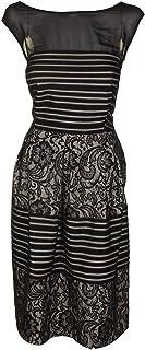 Sangria Women's Plus Size Striped Lace Party Dress